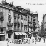 Vista panoràmica de la Plaça Major tal com era l'any 1906.