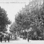 El Parc de la Seu com era a la primavera de 1908. Els manresans hi anaven a passejar i a fer relacions tot endiumenjats.