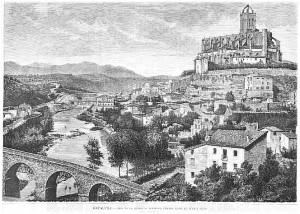 """""""Vista de la ciudad de Manresa, tomada desde el puente viejo"""""""