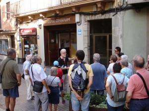 Visites a la Manresa Desconeguda 2017, carrer Sobrerroca. (Fotografia: Ramon Cornet - CEB)