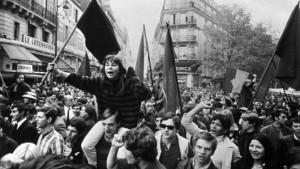 Manifestació d'estudiants durant el Maig del 68 a París.